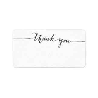 Dank-Kalligraphie-freier Raum Schreiben-in der Adressaufkleber