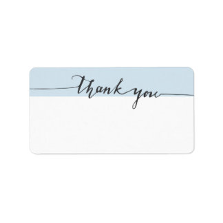 Dank-Kalligraphie-kundenspezifische Farbe Adressaufkleber