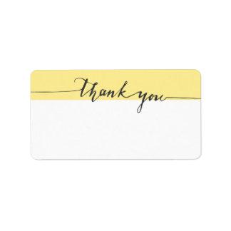 Dank-Kalligraphie-Löwenzahn Schreiben-in der Adressaufkleber
