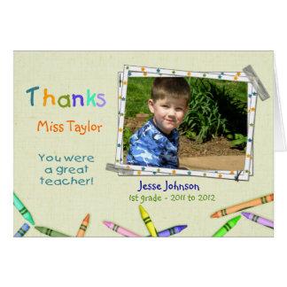 Dank-Lehrer-kundenspezifisches Foto/Namenskarte Karte