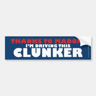 Dank Madoff/Clunker Autoaufkleber