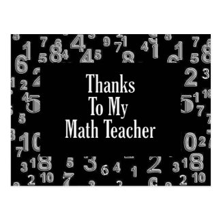 Dank meines Mathe-Lehrers Postkarte
