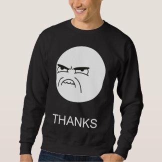 Dank Meme - 2 versahen schwarzes Sweatshirt mit