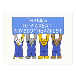 Dank-Physiotherapeut Postkarte