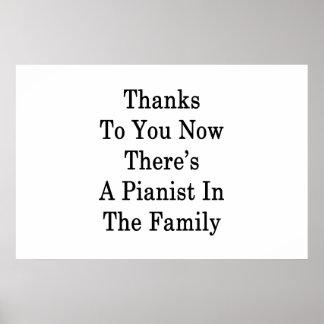 Dank Sie jetzt dort ist ein Pianist in der Familie Poster
