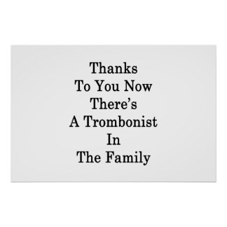 Dank Sie jetzt dort ist ein Trombonist im Fami Poster