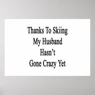 Dank Ski fahren mein Ehemann ist nicht noch Poster