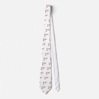 Dankbar im extravaganten Schriftart mit Federn Personalisierte Krawatte