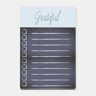 Dankbare Checklisten-Post-It blau Post-it Klebezettel