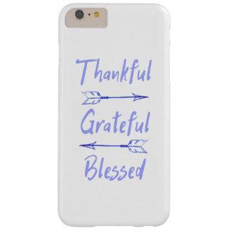 Dankbarer dankbarer gesegneter Erntedank Barely There iPhone 6 Plus Hülle