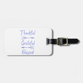 Dankbarer dankbarer gesegneter Erntedank Kofferanhänger