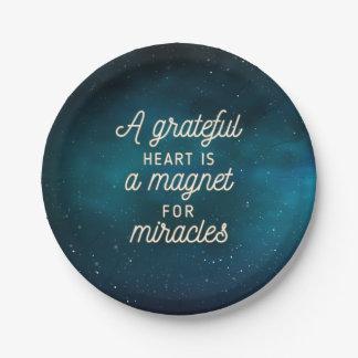Dankbarer Herz-Magnet für PapierTeller der