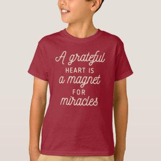 Dankbarer Herz-Magnet für Shirt der Wunder-|