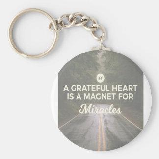 Dankbarer Herz-Wunder-Magnet Schlüsselanhänger