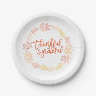 Dankbarer u. dankbarer Pappteller