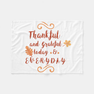 dankbarer und dankbarer Erntedank Fleecedecke