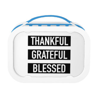 Dankbares dankbares gesegnet brotdose