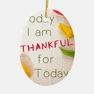 Dankbares motivierend Qoutes Ovales Keramik Ornament