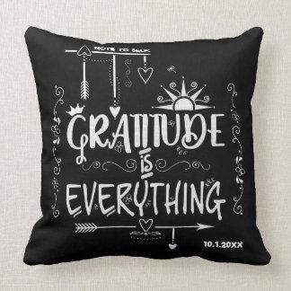 Dankbarkeit ist alles Anmerkung zur Selbsttafel Kissen