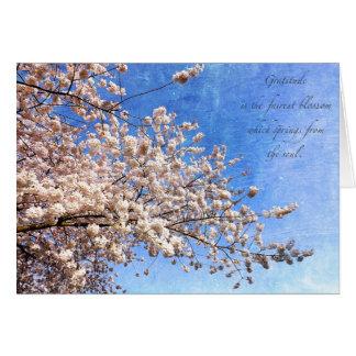 Dankbarkeit und Kirschblüten Karte