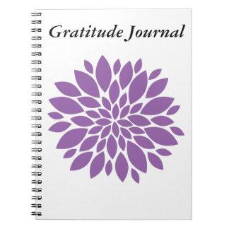 Dankbarkeits-Zeitschrift Notizblock