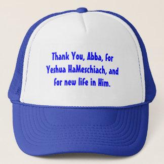 Danke, Abba, für Yeshua HaMeschiach, Truckerkappe