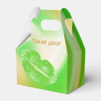 Danke abstraktes irisches Farbgrün-orange Weiß Geschenkschachtel