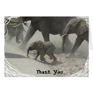 Danke -   afrikanischer Elefant Grußkarte
