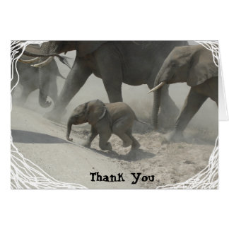 Danke -   afrikanischer Elefant Karte