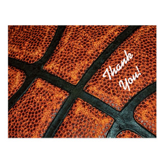Danke altes Retro Basketball-Muster Postkarten