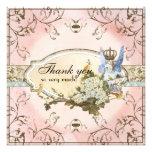Danke Anmerkungen - verzauberte Feen-Prinzessin Personalisierte Ankündigungskarte