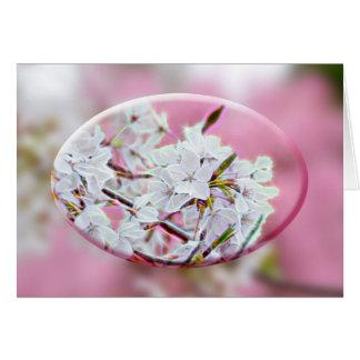 Danke - Apple-Blüten - Rosa Karte