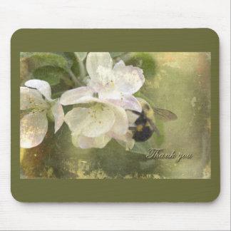 Danke Appleblüten und -biene Mousepads