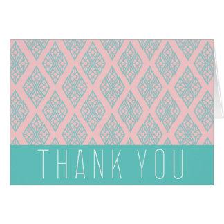 """danke!"" aquamariner Diamant 5.6x4 Karte"