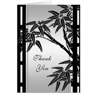 Danke, asiatischen schwarzen silbernen mit karte
