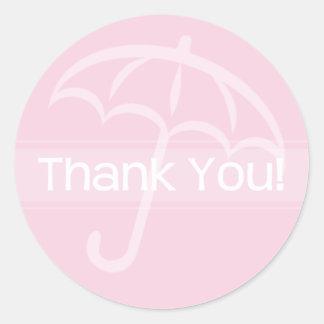 Danke Aufkleber-rosa Regenschirm
