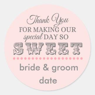 Danke, Aufkleber zu bevorzugen für Hochzeiten und