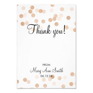 Danke Baby-Duschen-Kupfer-Folien-Glitter-Lichter 8,9 X 12,7 Cm Einladungskarte
