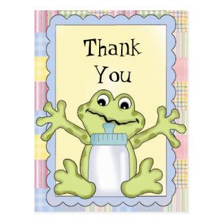 Danke Baby-Frosch-Postkarte Postkarte