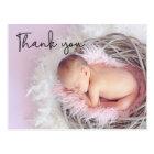 Danke, Baby-Geburts-Mitteilung, Skript-Schriftart Postkarte