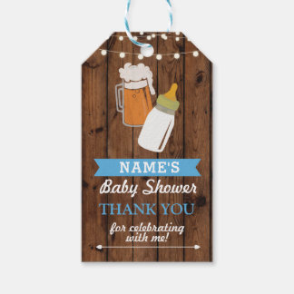 Danke, Babyparty-Brauenmädchen-Jungen-Blau zu Geschenkanhänger