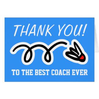 Danke, | Badminton-Grußkarten zu trainieren Grußkarte