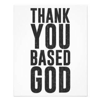 Danke basierte Gott Personalisierte Flyer