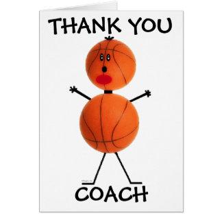 Danke Basketball-Trainer Karte