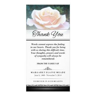 Danke Begräbnis- weiße Rose, die Wörter nicht Karte