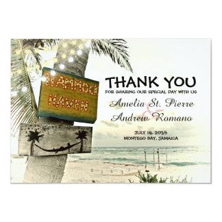 Danke Bestimmungsort-Strand-Hochzeit 11,4 X 15,9 Cm Einladungskarte