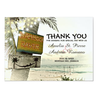 Danke Bestimmungsort-Strand-Hochzeit Karte