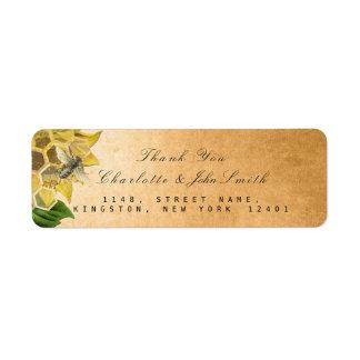 Danke Bienen-Sonnenblume-GoldRücksendeadresse