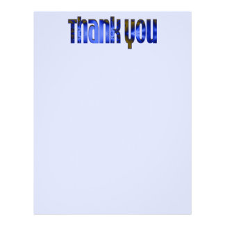 Danke blau flyerbedruckung
