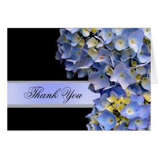 Danke blaue Hydrangeas, Alpha Karte